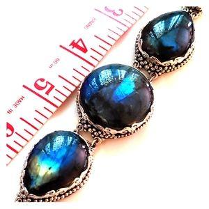 Sajen labradorite & 925 silver bracelet